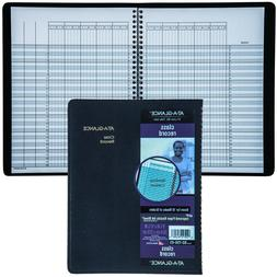 Recycled Class Record Book, 10-7/8 x 8-1/4, Black