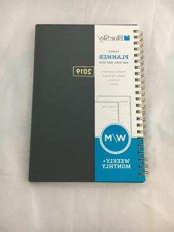 Sky 2019 Weekly & Monthly Planner Flexible Wire Binding, 5 X
