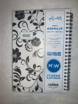 Blue Sky Tabbed Planner Jan 2020- Dec 2020 White Black Flora