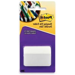 Post-it Tabs, 2-Inch Angled Solid, White, 50-Tabs/Pack