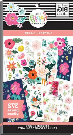 The Classic Happy Planner® Florals Value Pack Stickers 372