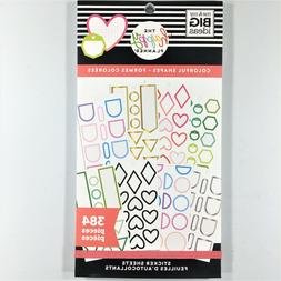 The Happy Planner Colorful Shapes Sticker Book Pack Of 384 M