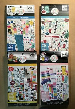 The Happy Planner SET of 4 SEASONS Sticker Books WINTER SUMM