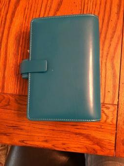 The Filofax Metropol Personal Organizer Teal Leather New