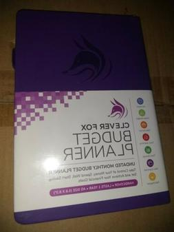 Clever Fox Undated Monthly Budget Planner in Purple New Also