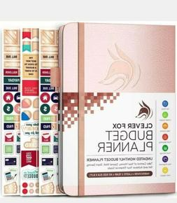 Clever Fox Undated Monthly Budget Planner in Rose Gold New