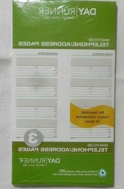 Day Runner Undated Planner Telephone and Address Refill, 5.5