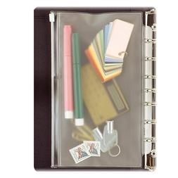 Day-Timer Vinyl Zip Pouch, Folio Size, 8.5 x 11 Inches, Clea