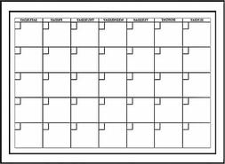 Wall Peel Stick Dry Erase White Board Marker Monthly Calenda