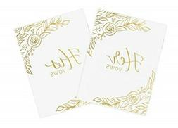 bloom daily planners Wedding Vow Books - His & Hers Unlined
