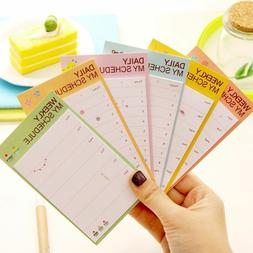 Weekly Daily 2pcs Planner Notes Memo Pad Schedule Sticker Of