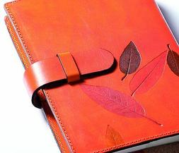 Weekly Organizer Leccio Refillable Leather Cover  7 X 9.5 In